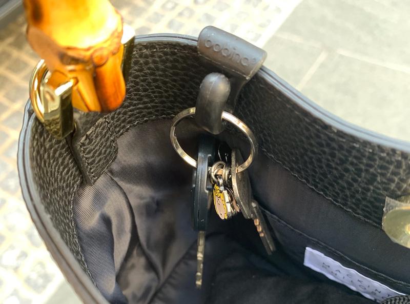 バッグの鍵収納キークリップの画像