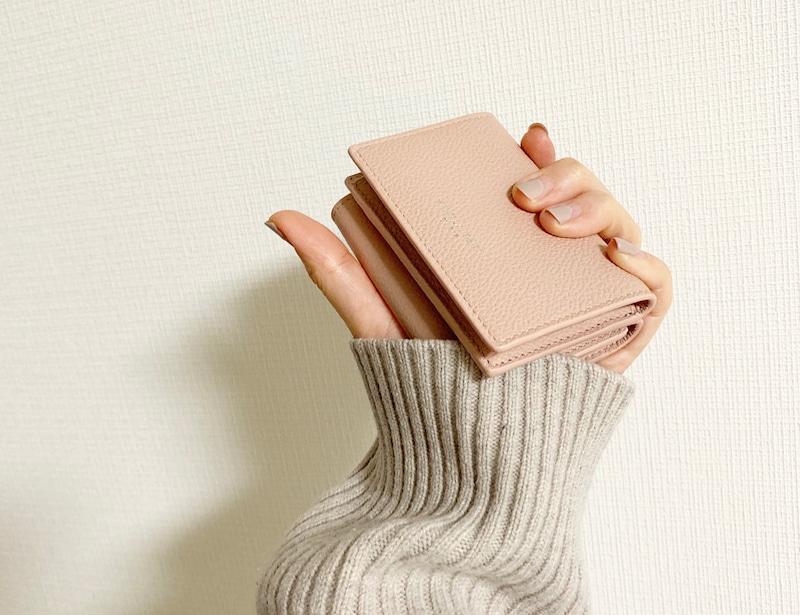 ミニマリスト三つ折り財布の画像