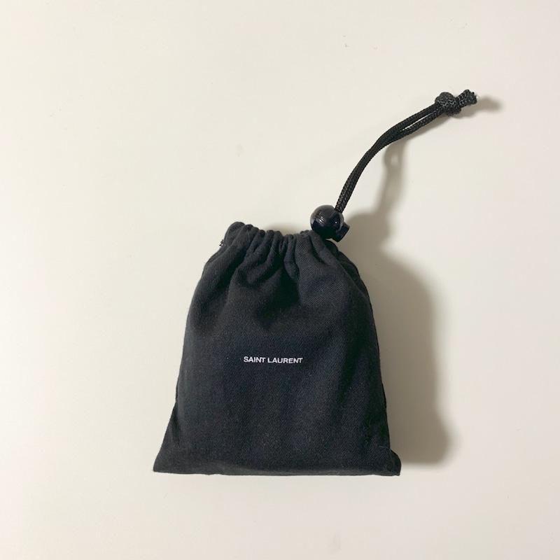 サンローラン三つ折り財布保存袋の画像